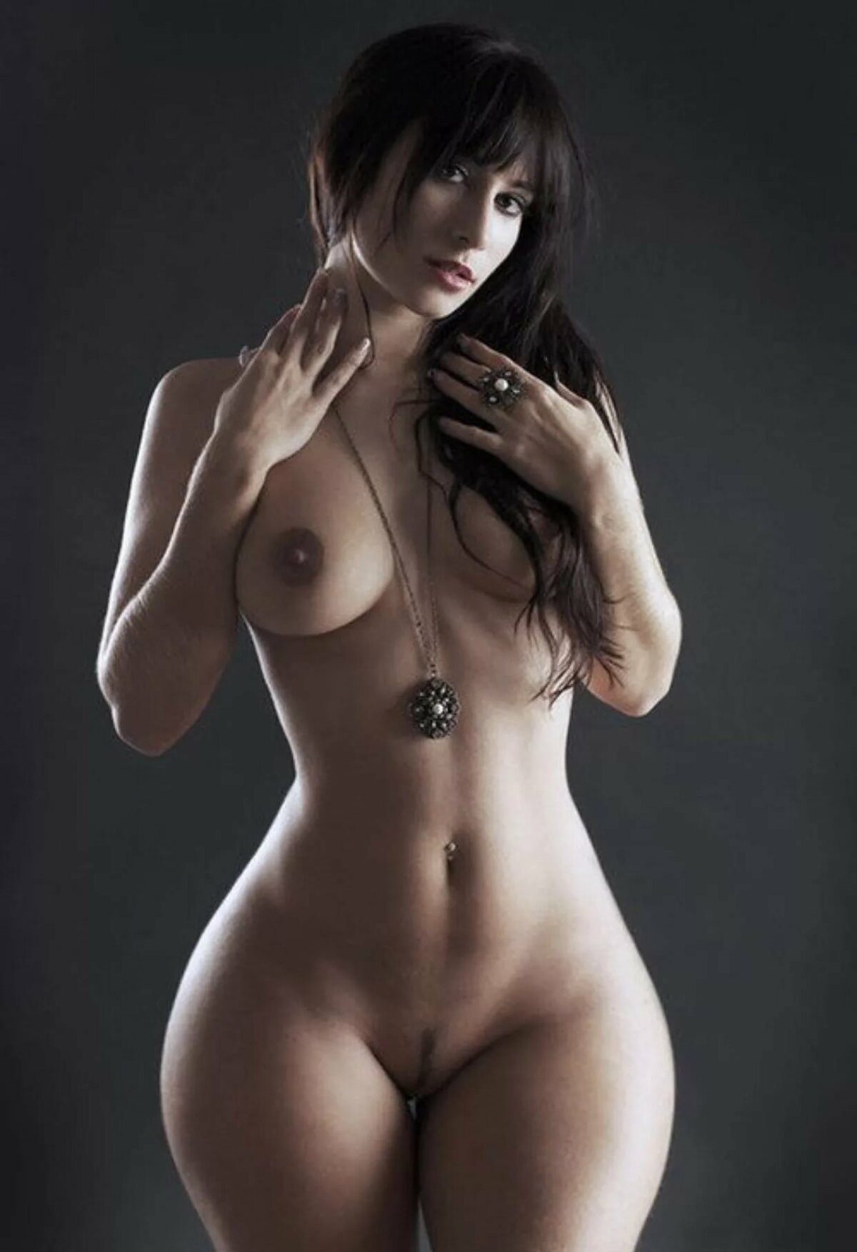 Oily nude nude hot wide hip wife with