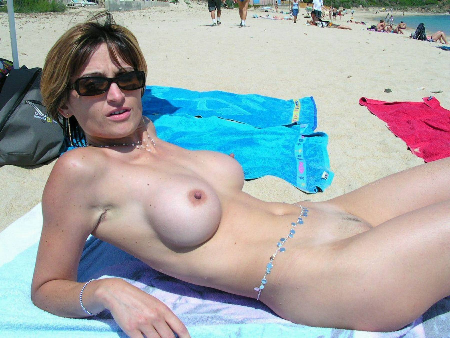 Wife naked beach