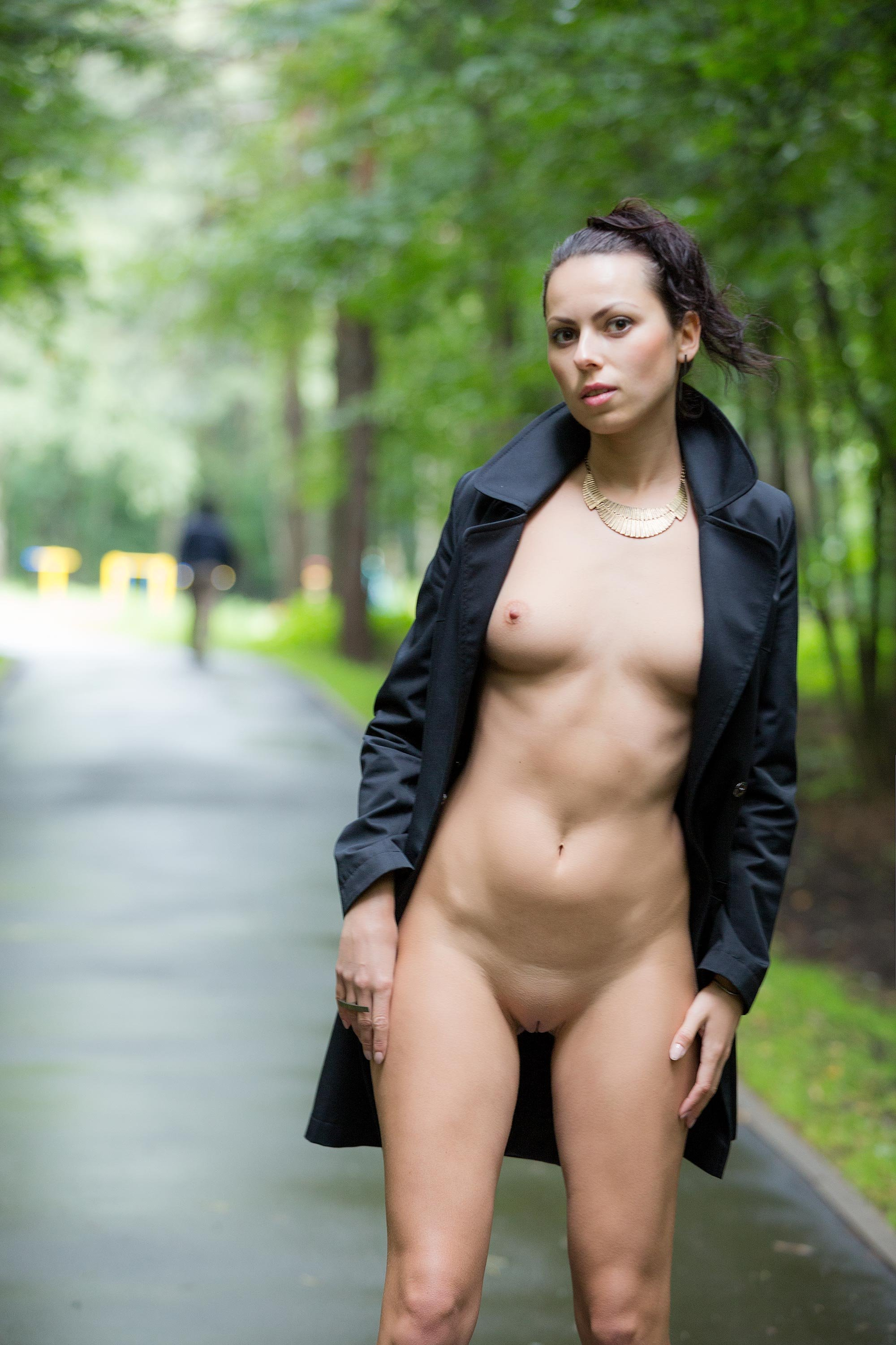 Nude girls in a park 1